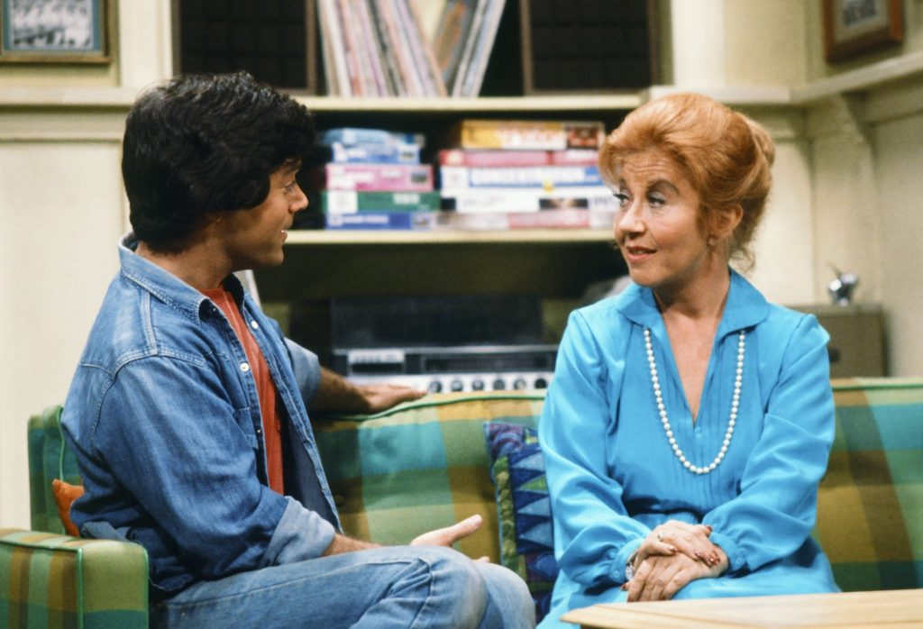 Tom Fitzsimmons as Alex Garrett, Charlotte Rae as Mrs. Edna Ann Garrett