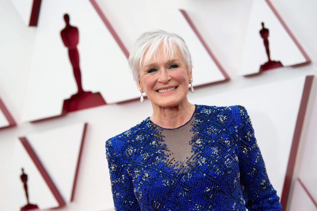 Glenn Close arrives on the red carpet of The 93rd Oscars at Union Station