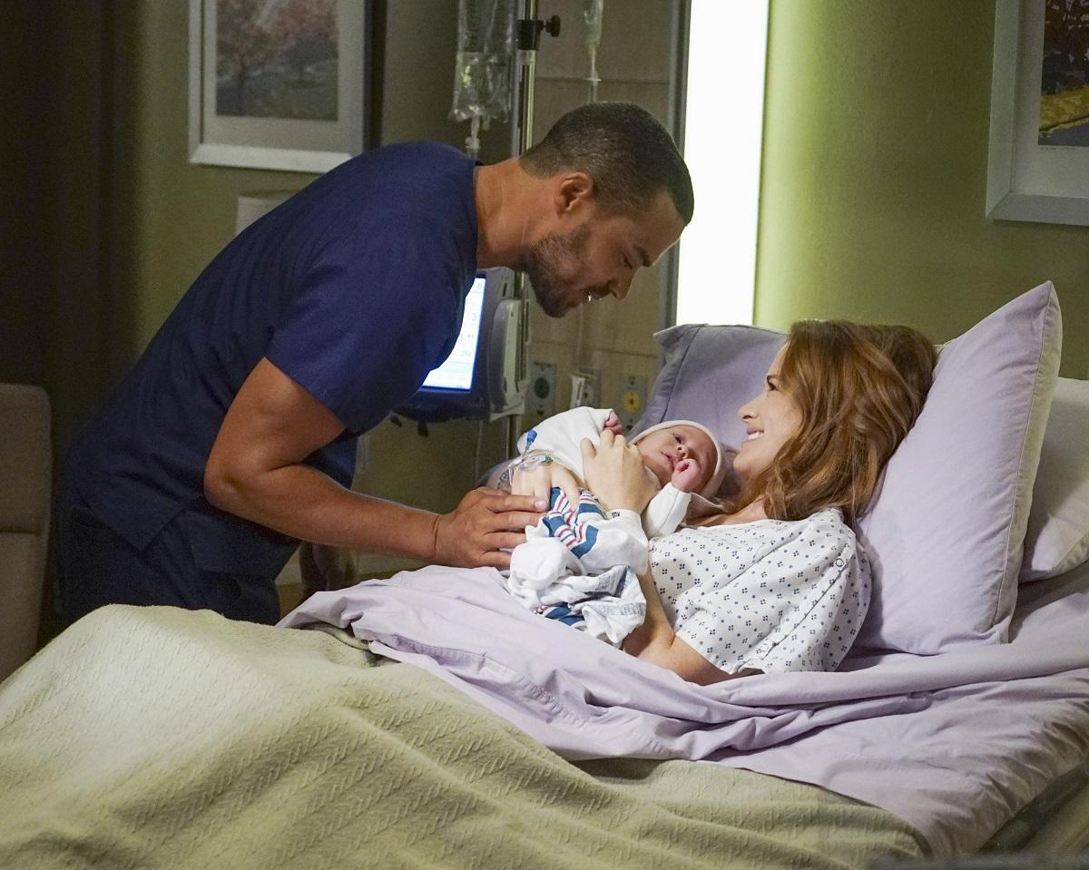Jesse Williams and Sarah Drew in 'Grey's Anatomy'