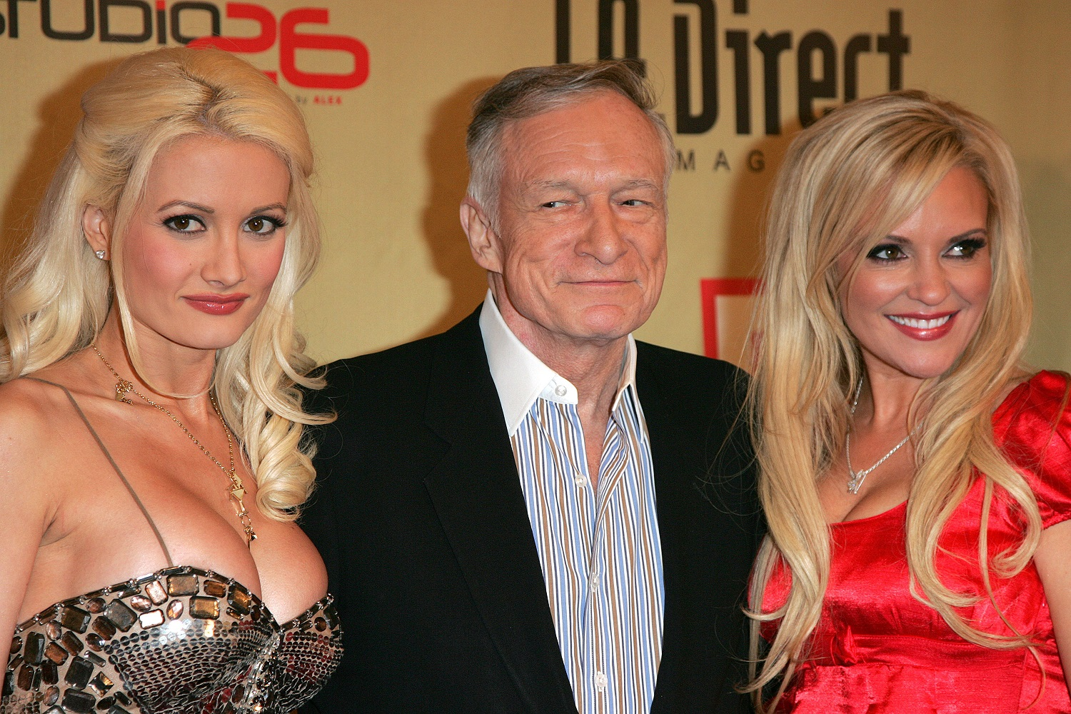 Holly Madison, Hugh Hefner, and Bridget Marquardt