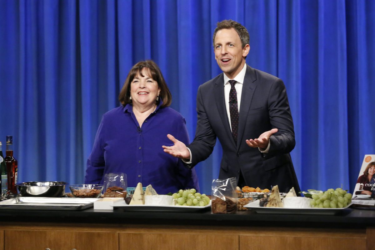 Ina Garten cooks with Seth Meyers on Late Night With Seth Meyers