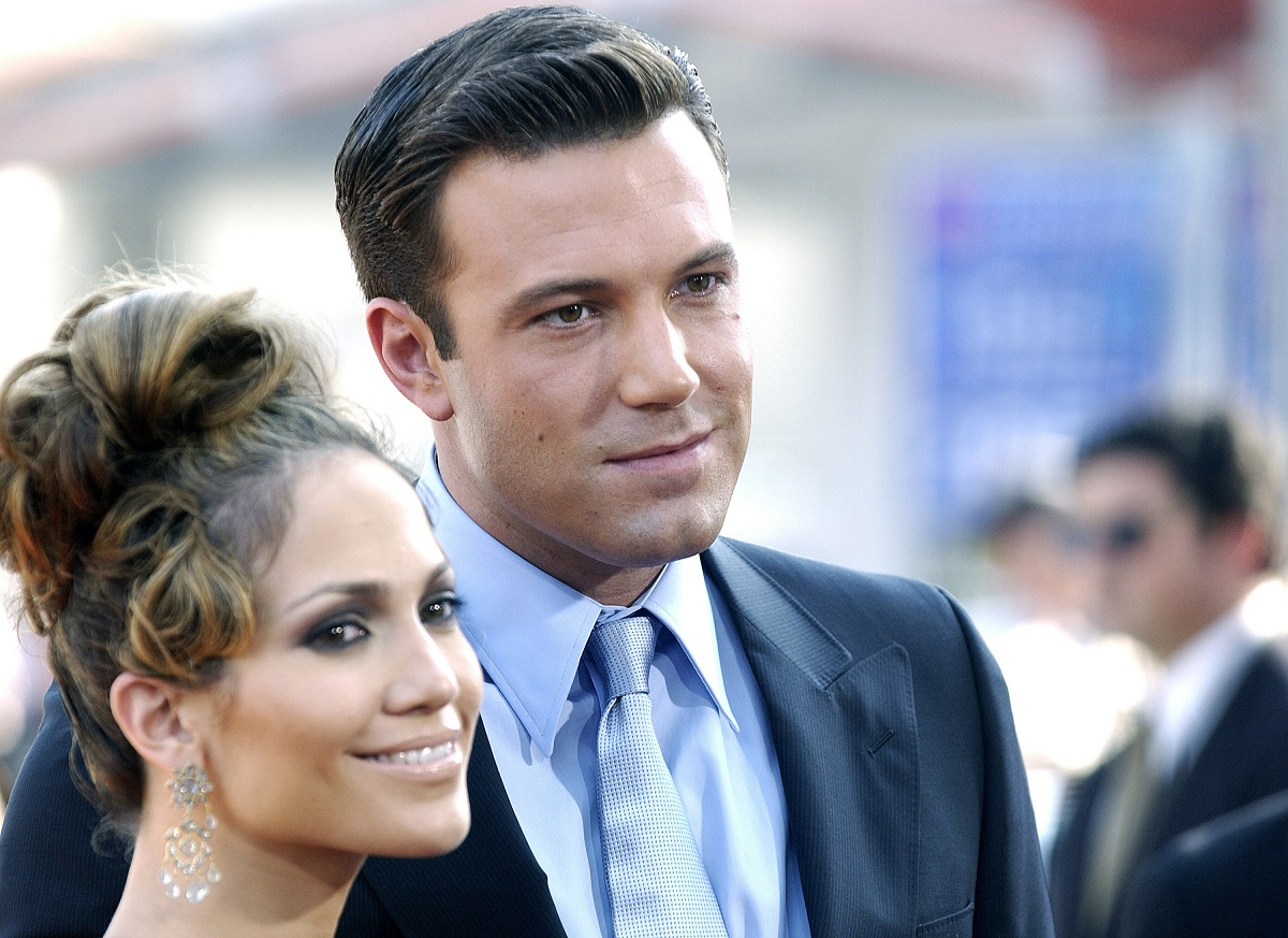 Jennifer Lopez and Ben Affleck during the 'Gigli' California Premiere in 2003