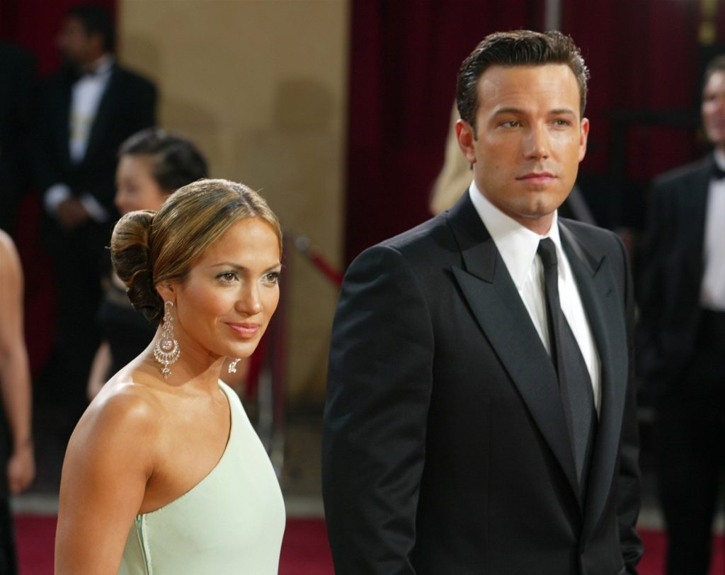 Ben Affleck and Jennifer Lopez attend the 75th Annual Academy Awards on March 23, 2003 in Hollywood, California.