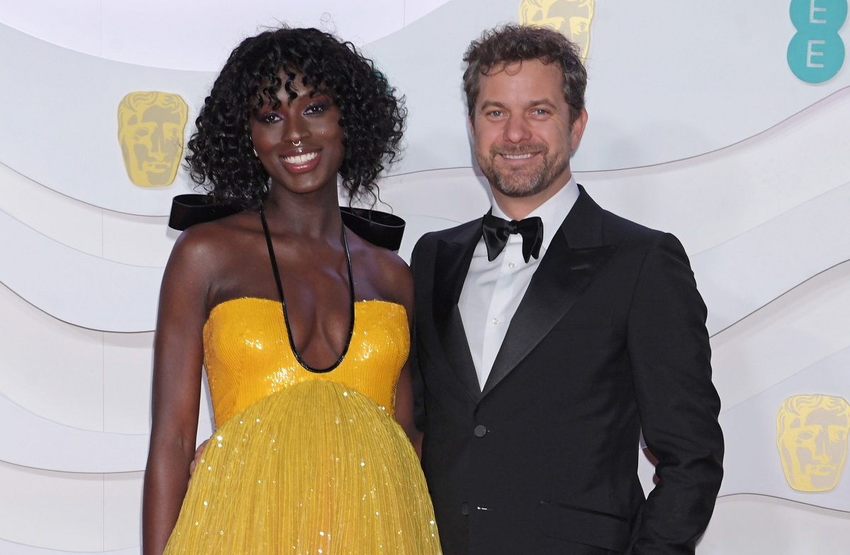 Jodie Turner-Smith (L) and Joshua Jackson arrive at the EE British Academy Film Awards 2020, in London, England.