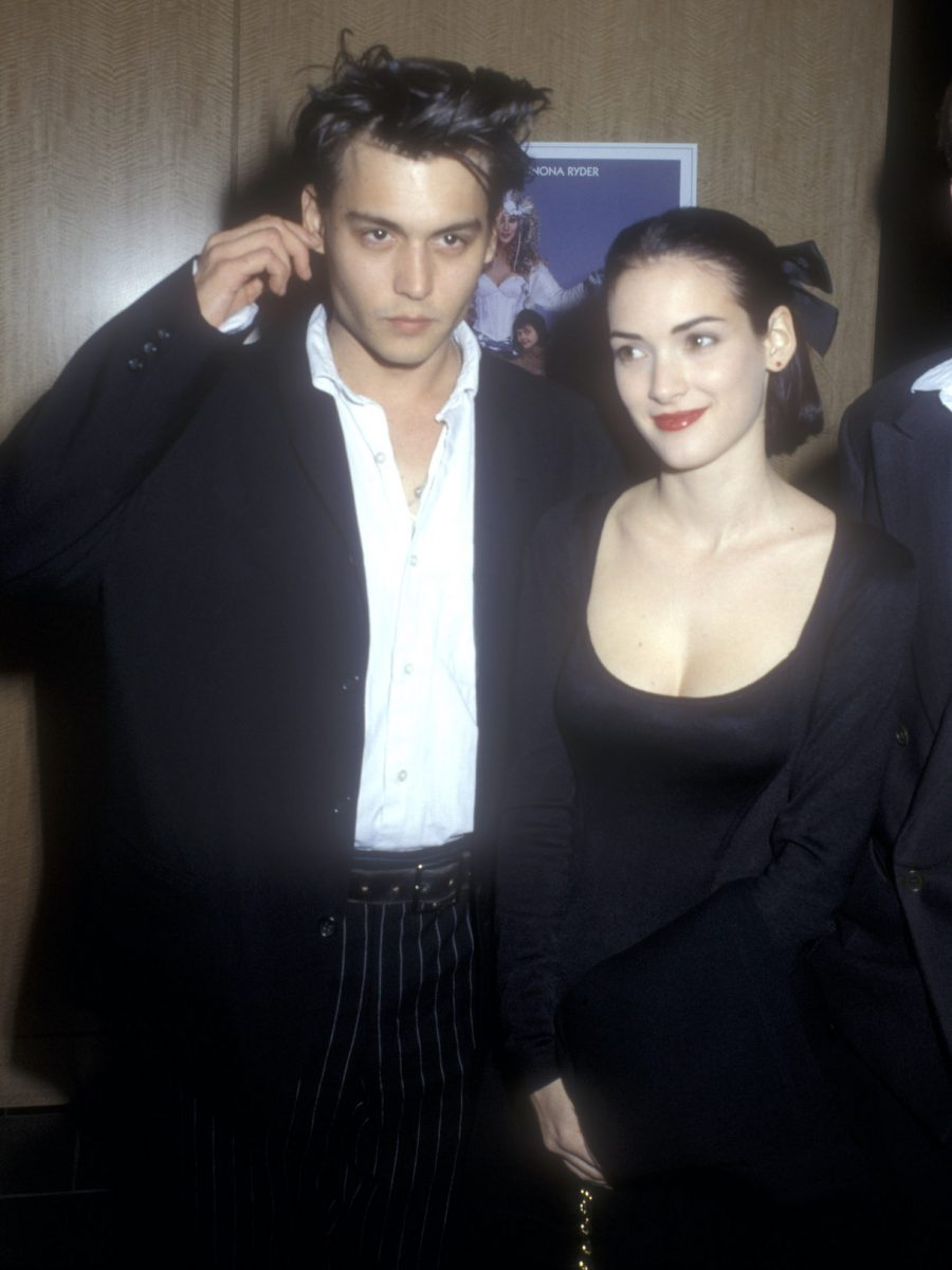 """Johnny Depp and Winona Ryder during """"Mermaids"""" Premiere"""