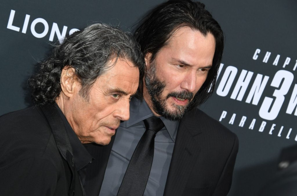 Keanu Reeves and Ian McShane arrive at Los Angeles screening of 'John Wick: Chapter 3 – Parabellum' in 2019