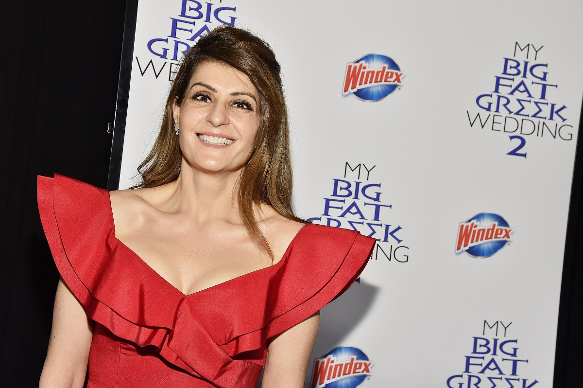 Nia Vardalos arrives at the premiere of My Big Fat Greek Wedding 2 in New York City, on March 15, 2016.