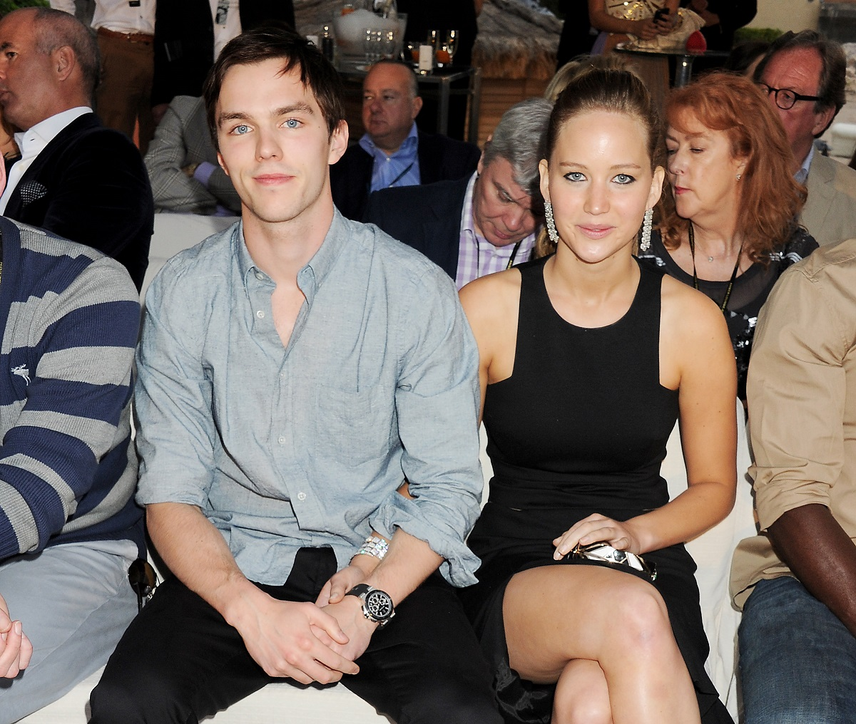 Nicholas Hoult (L) and Jennifer Lawrence on May 25, 2012, in Monaco.