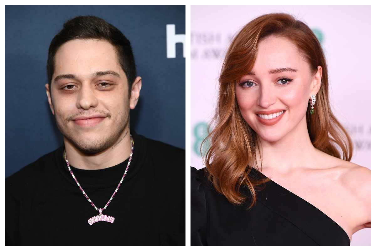 composite image of Pete Davidson (L) and Phoebe Dynevor