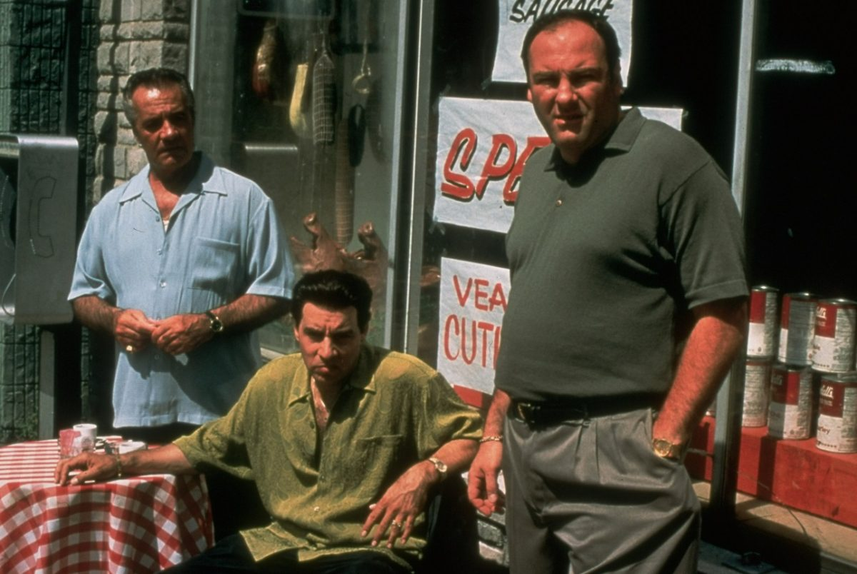 'Sopranos' actors outside of the pork store depicted in the show