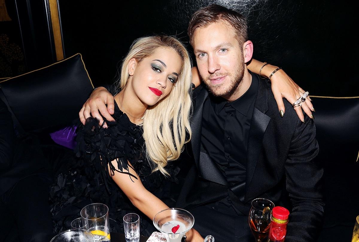 Rita Ora and Calvin Harris on February 19, 2014, in London, England.