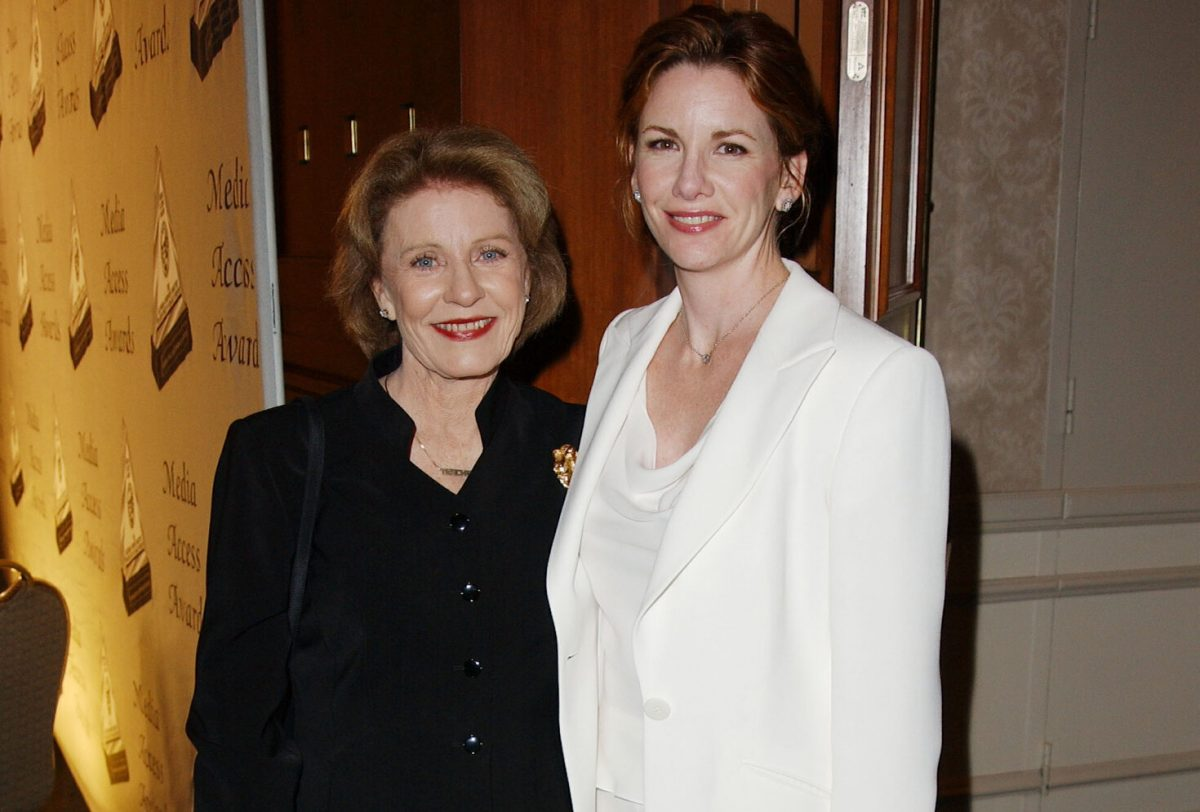 Patty Duke and Melissa Gilbert pose at the 20th Annual Media Access Awards.