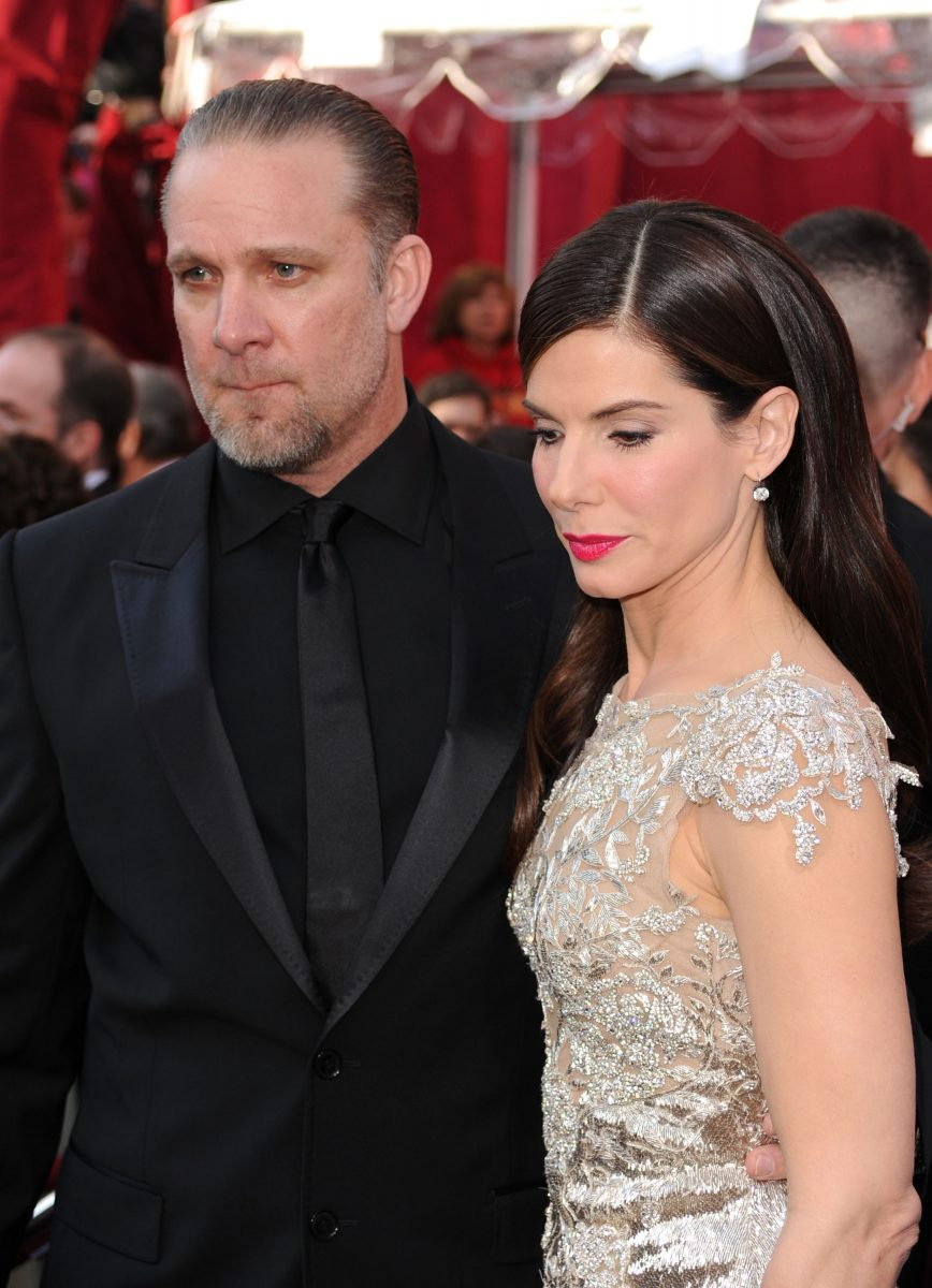 TV personality Jesse James and Actress Sandra Bullock arrive at the 82nd Annual Academy Awards