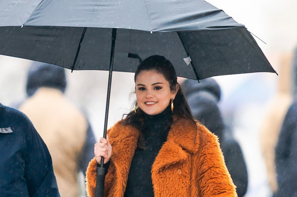 Selena Gomez on set for 'Only Murders in the Building' on February 23, 2021, in New York City.
