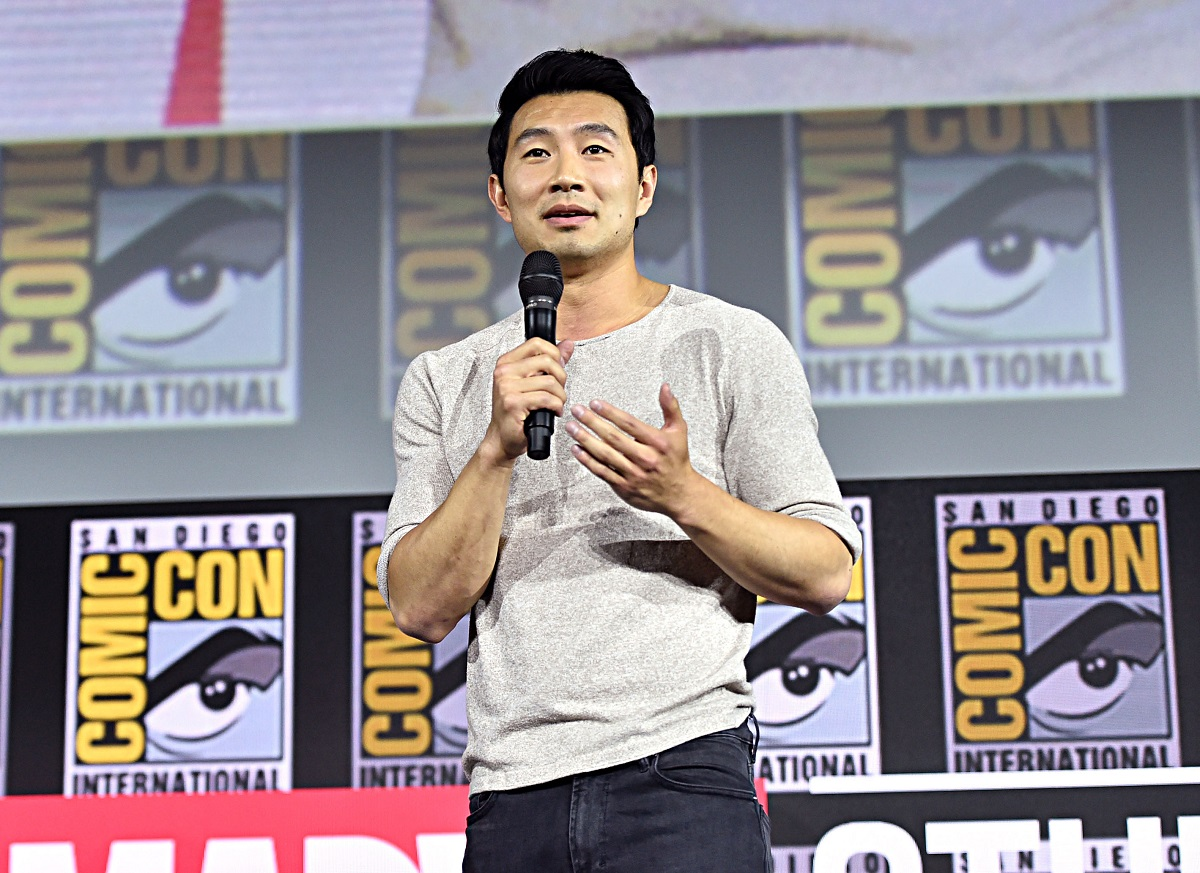 Simu Liu of 'Shang-Chi and the Legend of the Ten Rings' at the SDCC 2019 Marvel Studios Panel on July 20, 2019.