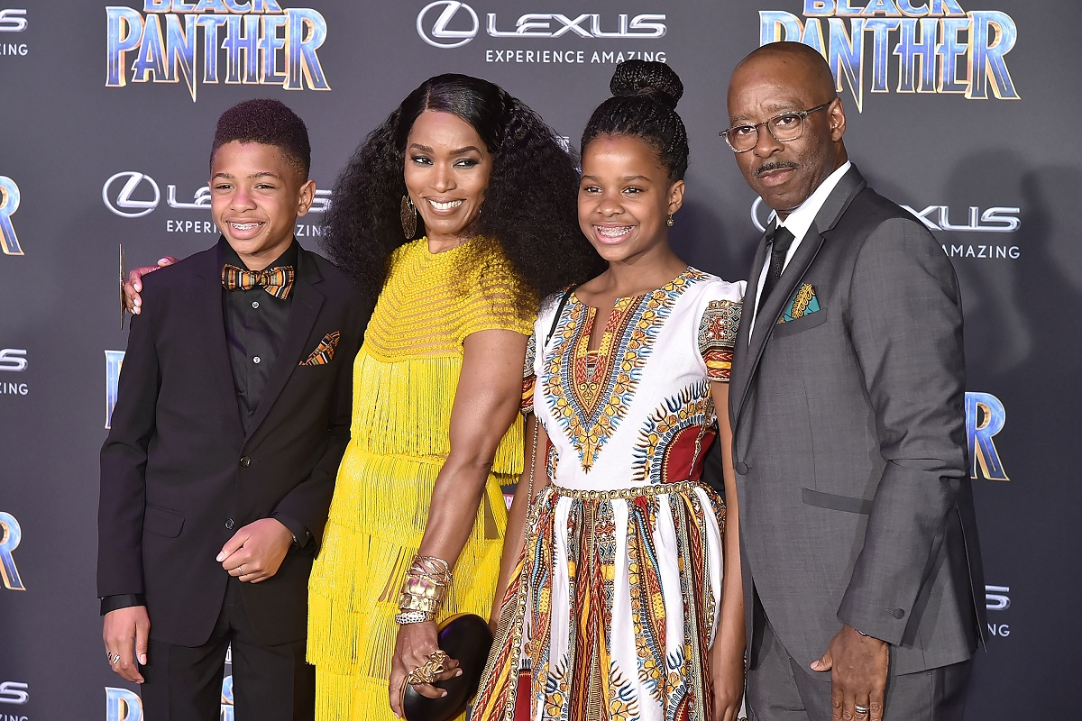 Slater Vance, Angela Bassett, Bronwyn Vance, and Courtney B. Vance attend the premiere of Disney and Marvel's 'Black Panther' on January 29, 2018, in Hollywood, California.