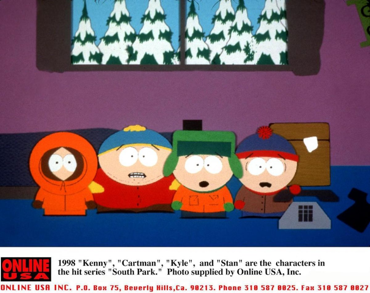 1998 'Kenny', 'Cartman', 'Kyle', and 'Stan' are the characters in the hit series 'South Park'