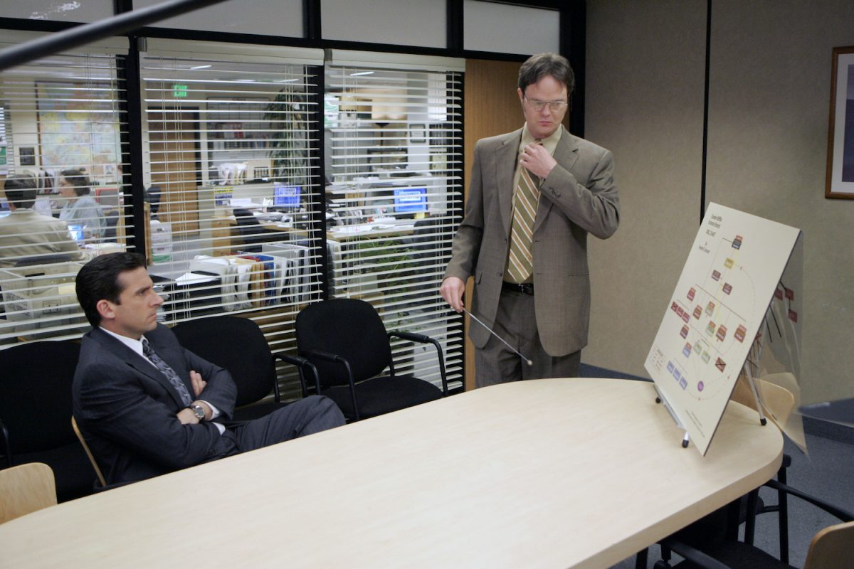 'The Office': Steve Carell as Michael Scott and Rainn Wilson as Dwight Schrute