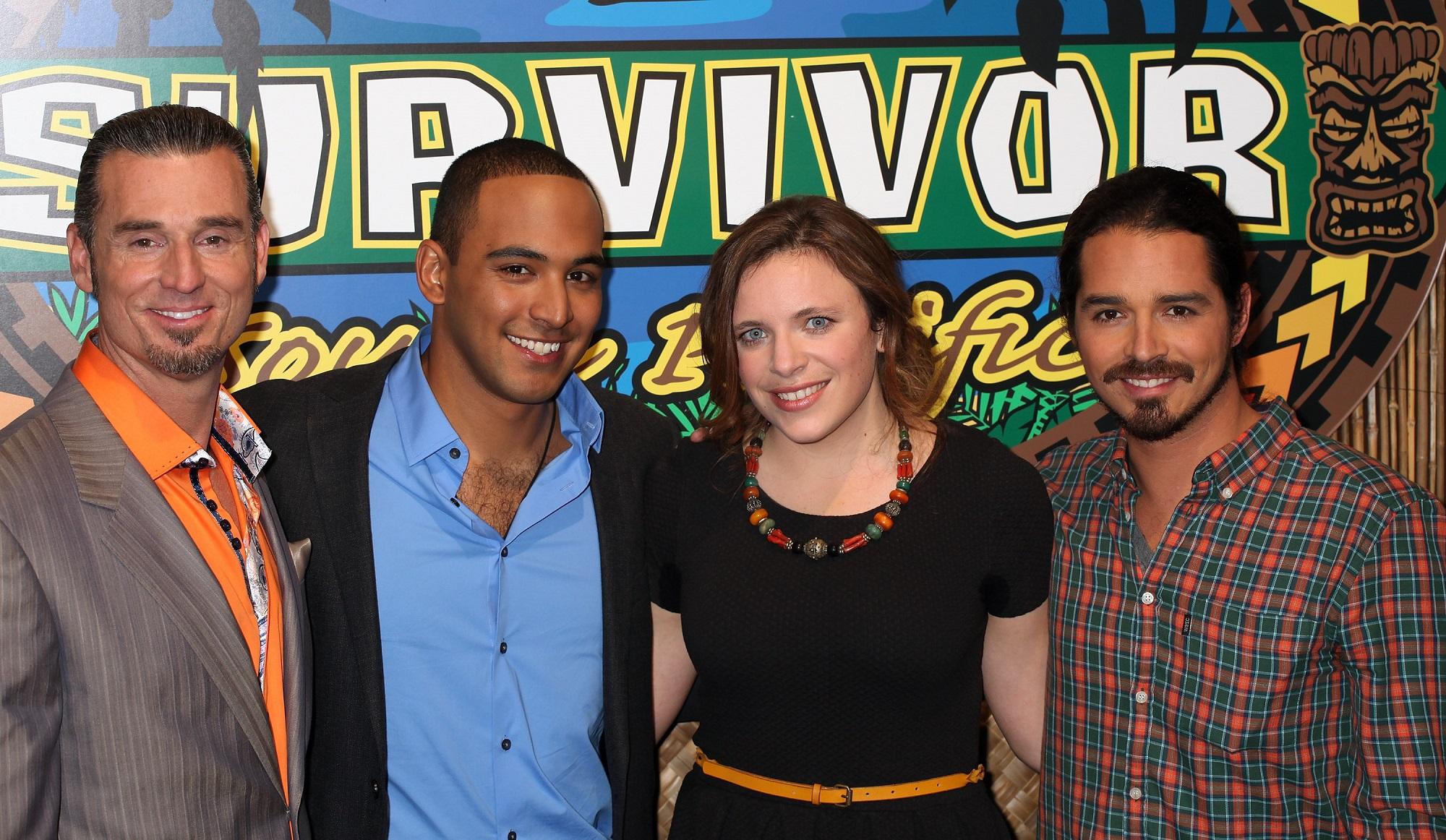 Benjamin 'Coach' Wade, Albert Destrade, Sophie Clarke, and Ozzy Lusth of Survivor: South Pacific