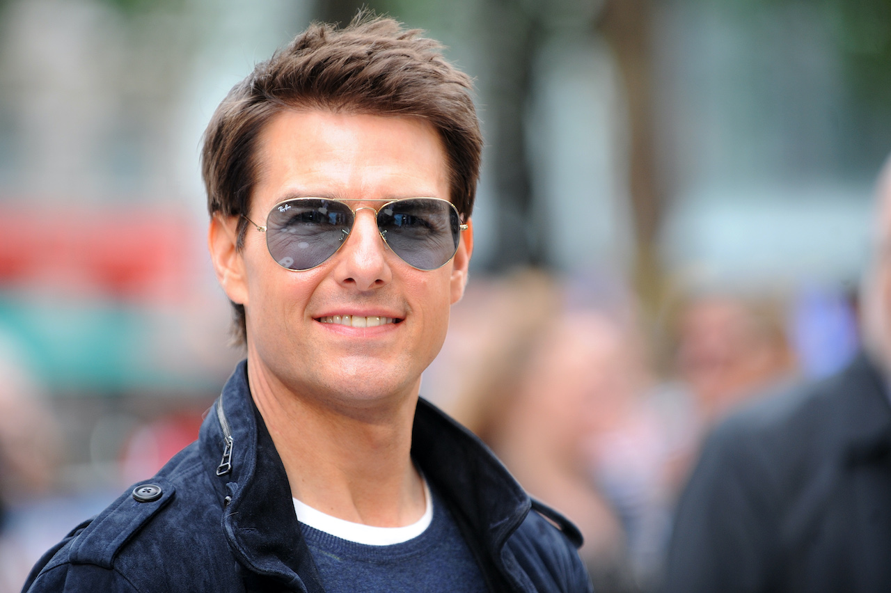 """Tom Cruise attends the European premiere of """"Rock Of Ages"""" at Odeon Leicester Square in London, England"""