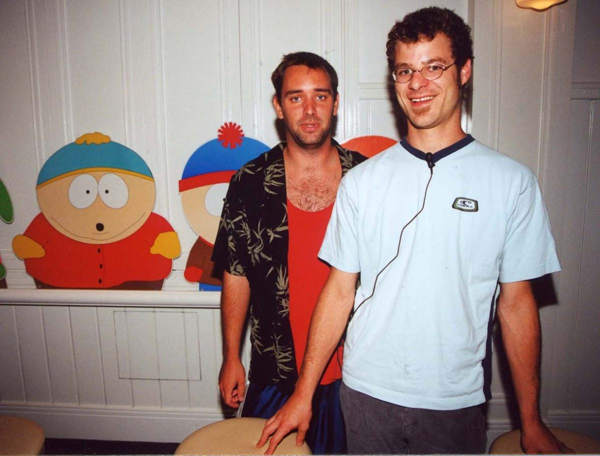 Trey Parker & Matt Stone during Comedy Central South Park press conference