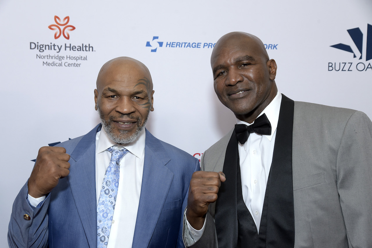 Mike Tyson and Evander Holyfield attend the 19th annual Harold and Carole Pump Foundation Gala