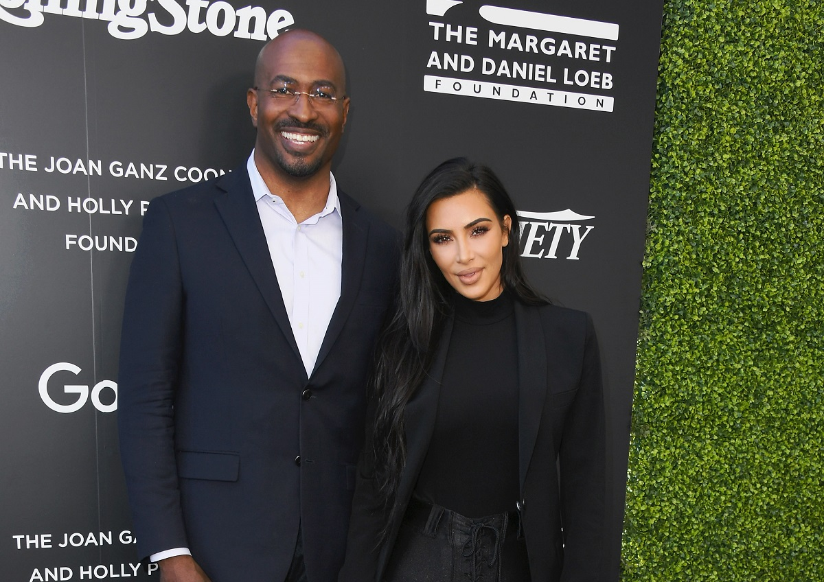 Van Jones and Kim Kardashian attend the 1st Annual Criminal Justice Reform Summit on November 14, 2018, in West Hollywood, California.