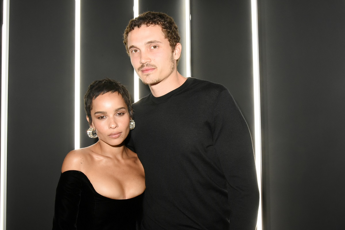 Zoe Kravitz and Karl Glusman on January 17, 2018, in Paris, France.