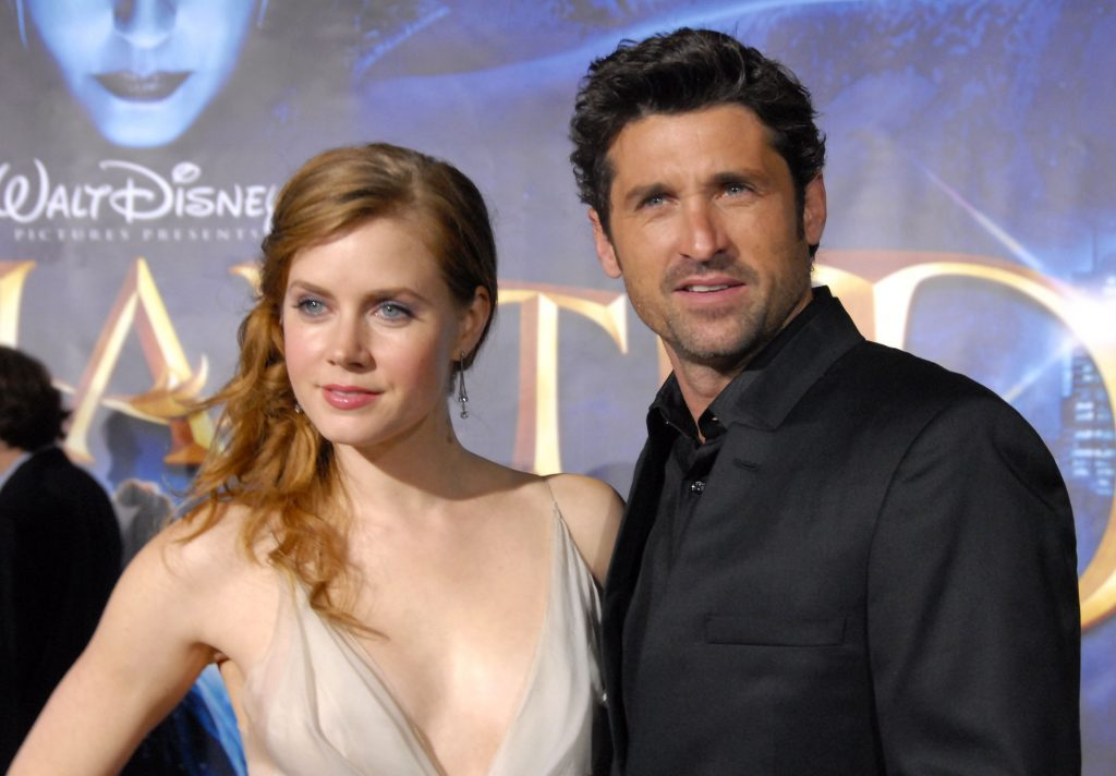Amy Adams and Patrick Dempsey arrive at the World Premiere of Walt Disney Pictures' 'Enchanted' held at El Capitan Theatre