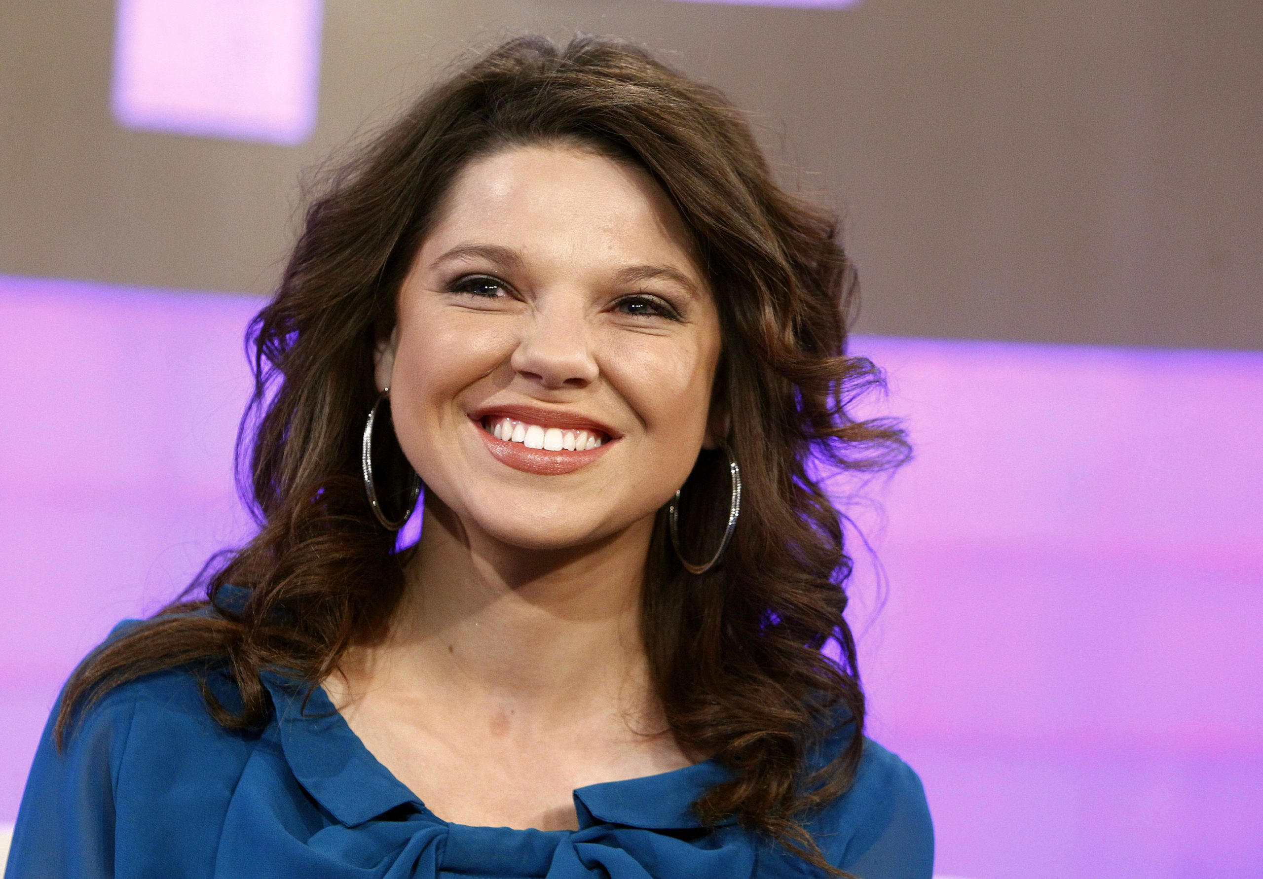 Amy Duggar, wearing a blue top, during an appearance on 'Today'