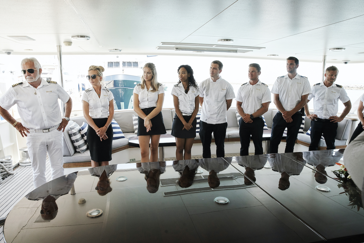 Below Deck Season 7: Captain Lee Rosbach, Kate Chastain, Courtney Skippon, Simone Mashile, Kevin Dobson, Tanner Sterback, Ashton Pienaar, Brian de Saint Pern