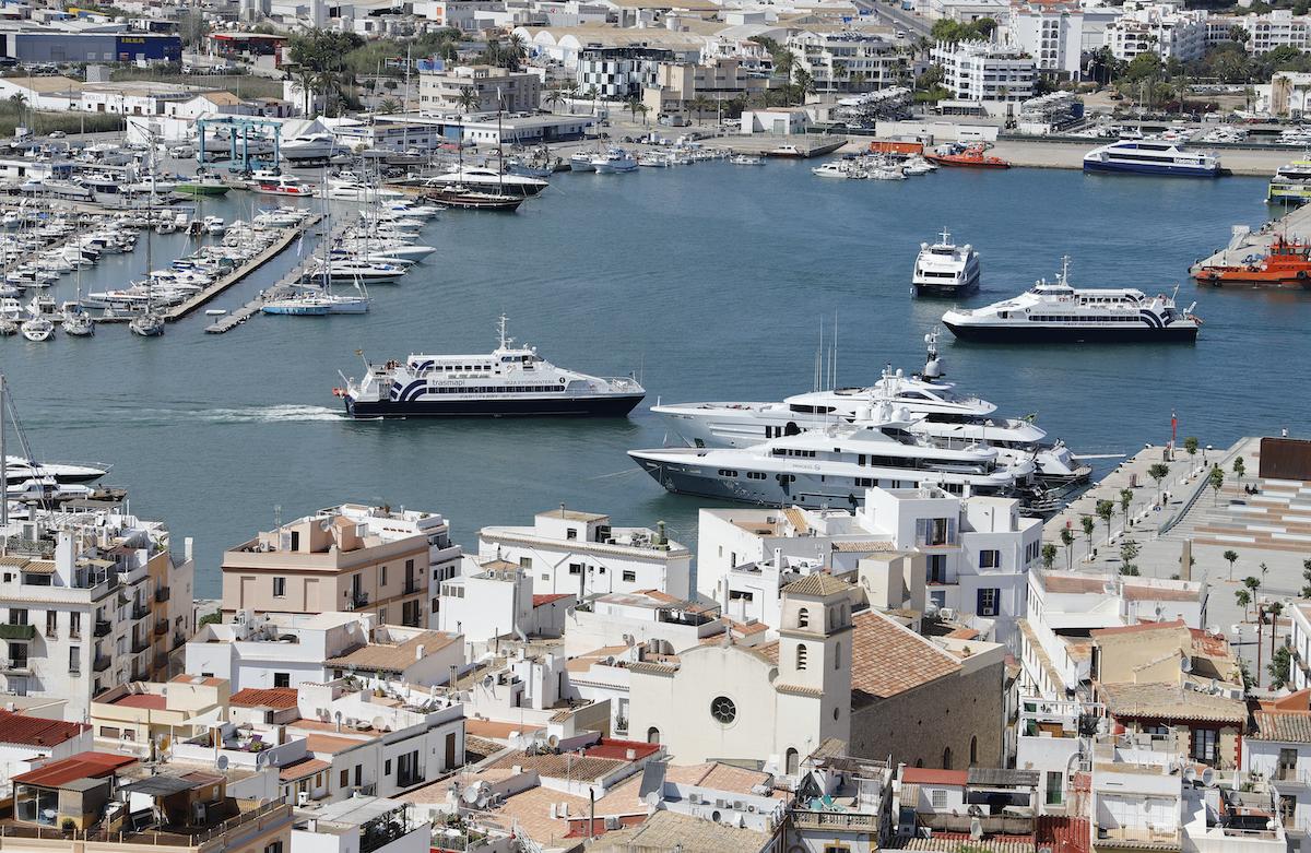 Yacht in Spain, Ibiza-Stadt