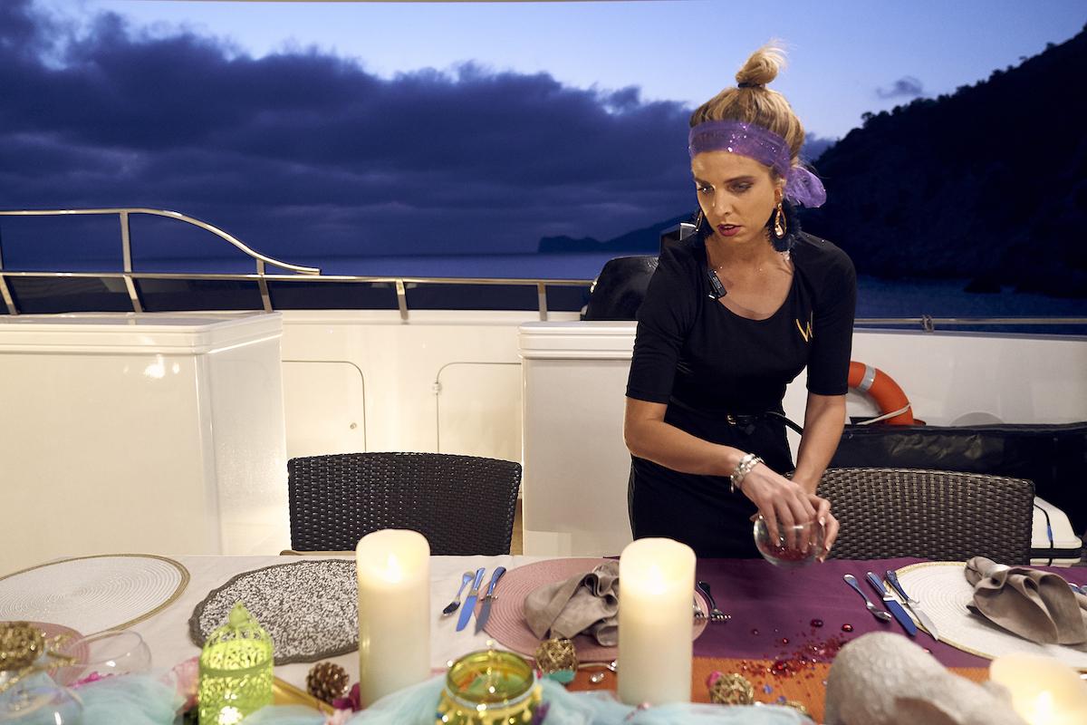 Christine 'Bugsy' Drake prepares for dinner on Below Deck Mediterranean