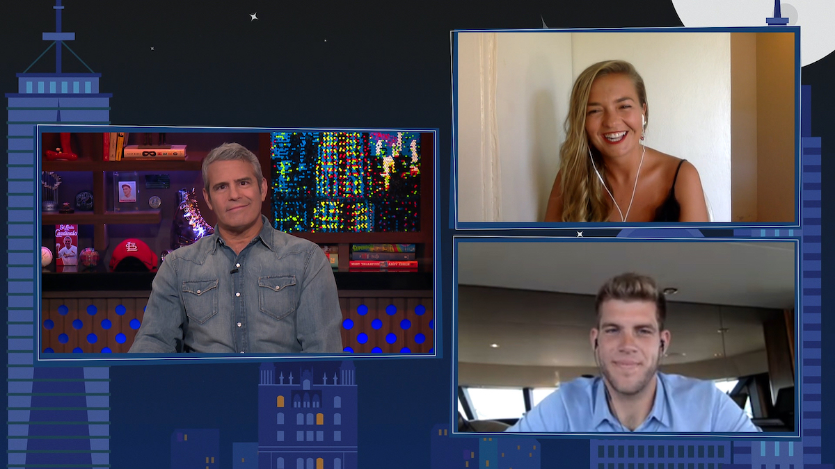 Andy Cohen, Daisy Kelliher, Jean-Luc Cerza Lanaux on WWHL