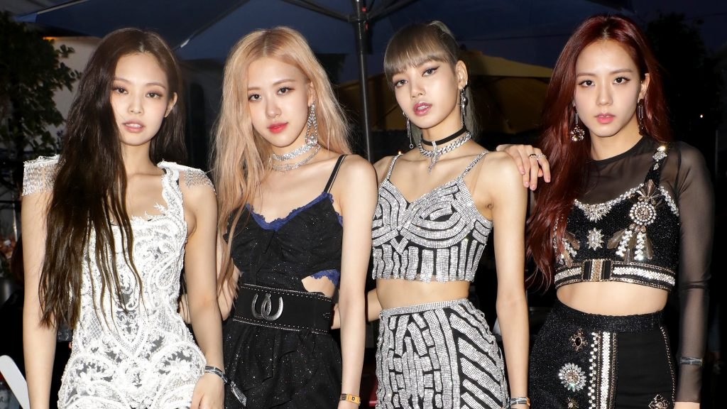 Jennie, Rosé, Lisa, and Jisoo of 'BLACKPINK' are seen at the YouTube Music Artist Lounge at Coachella