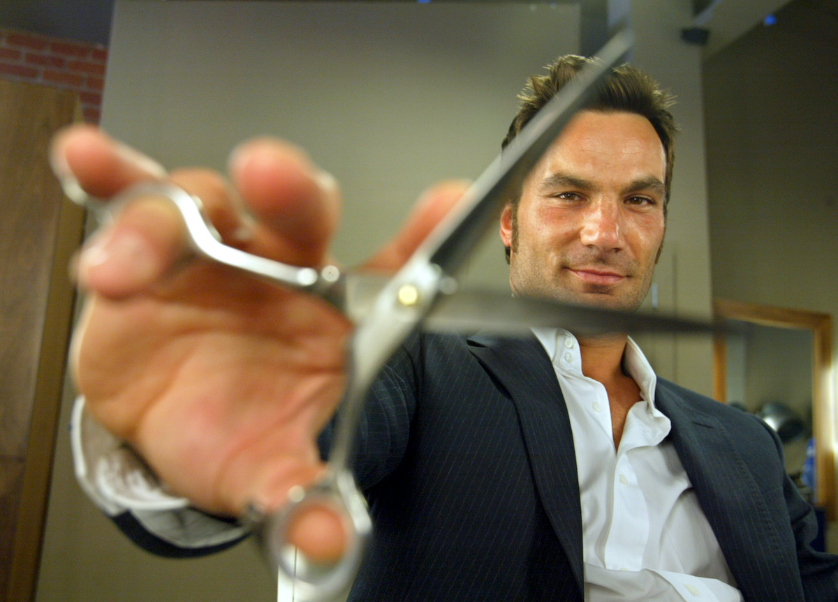 Jonathan Antin, owner of Johathan Salon on Wilshire Blvd in Beverly Hills in 2004