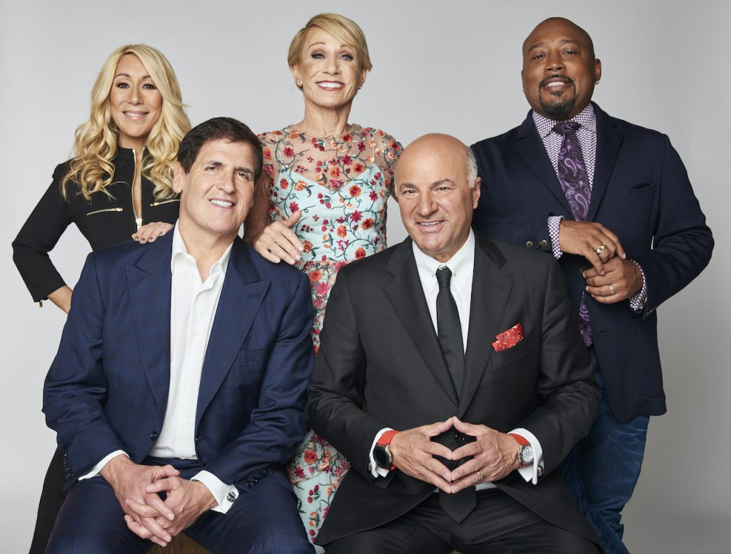 Cast of 'Shark Tank': (l-r) Lori Greiner, Mark Cuban, Barbara Corcoran, Kevin O'Leary, and Daymond John of Tribeca Talks: Ten Years of Shark Tank poses for a portrait during the 2018 Tribeca TV Festival