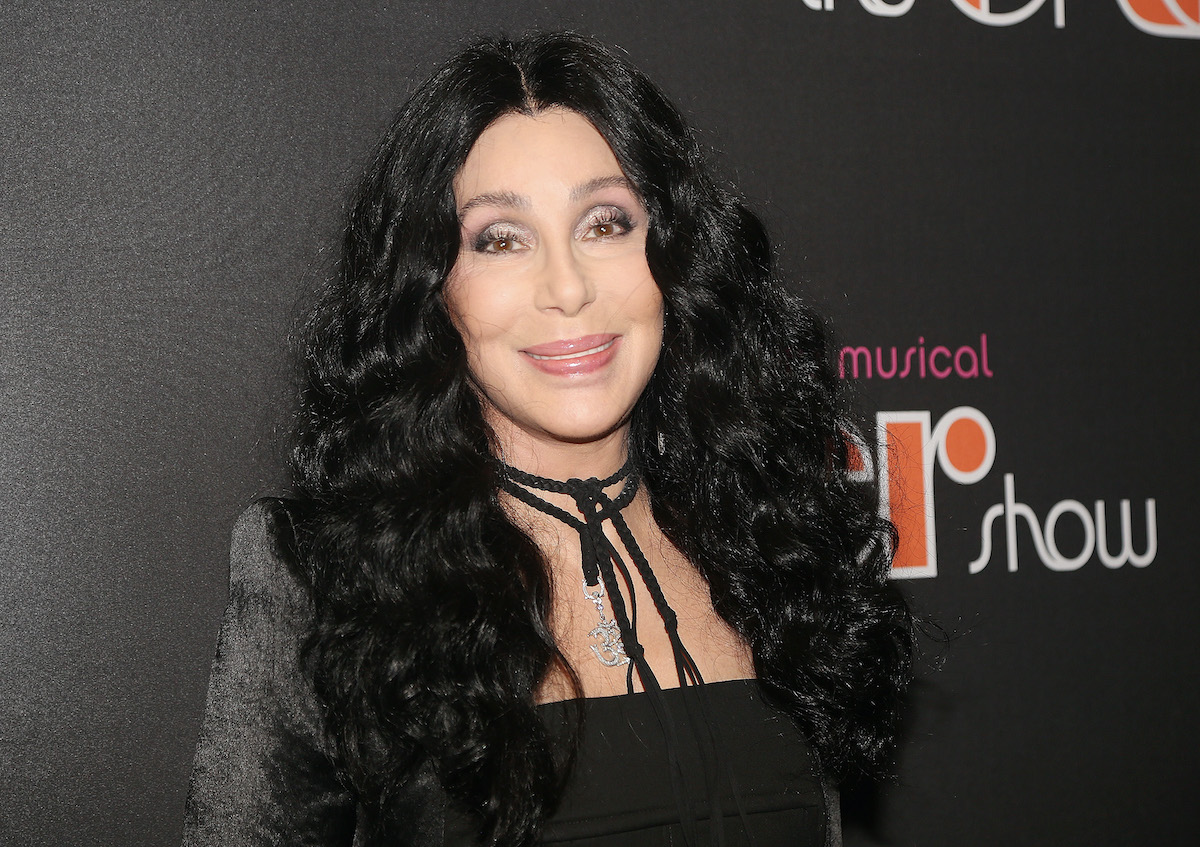 """Cher poses at the opening night of the new musical """"The Cher Show"""" on Broadway"""
