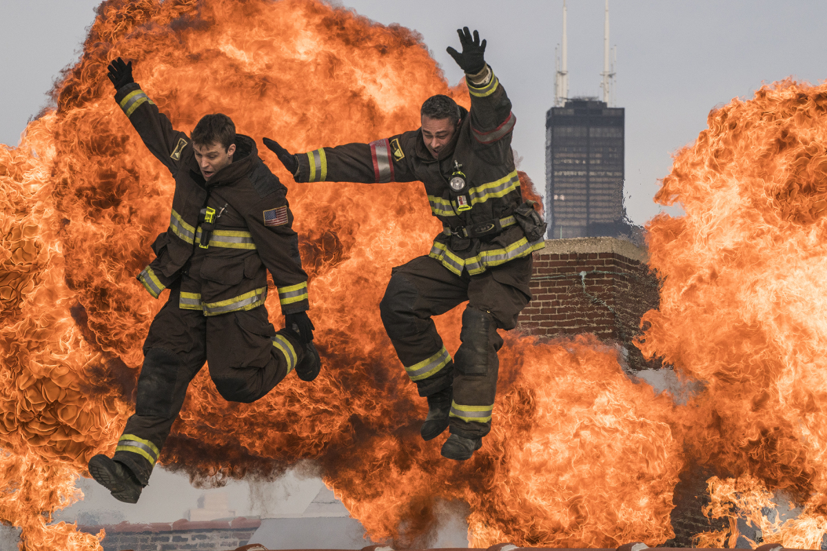 'Chicago Fire' stars Taylor Kinney and Jesse Spencer in' Law of the Jungle' which aired on November 27, 2017 on NBC