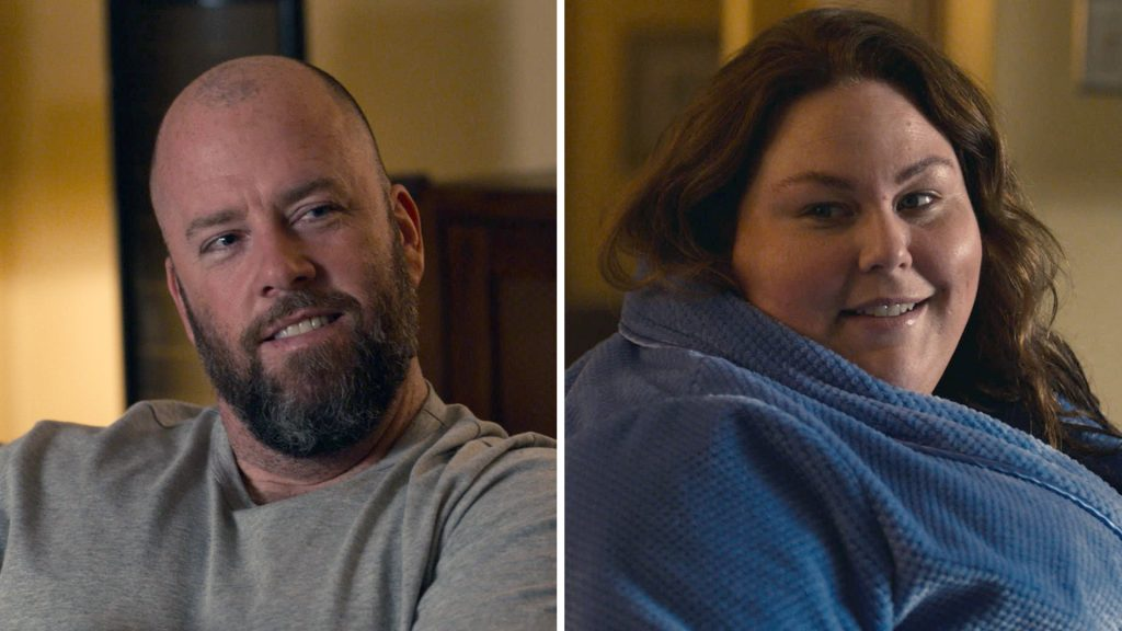 Screenshots of Chris Sullivan as Toby and Chrissy Metz as Kate in 'This Is Us' Season 5 Episode 14