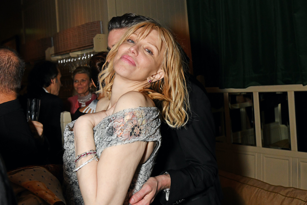 Courtney Love at an after-party in 2020 in London, England