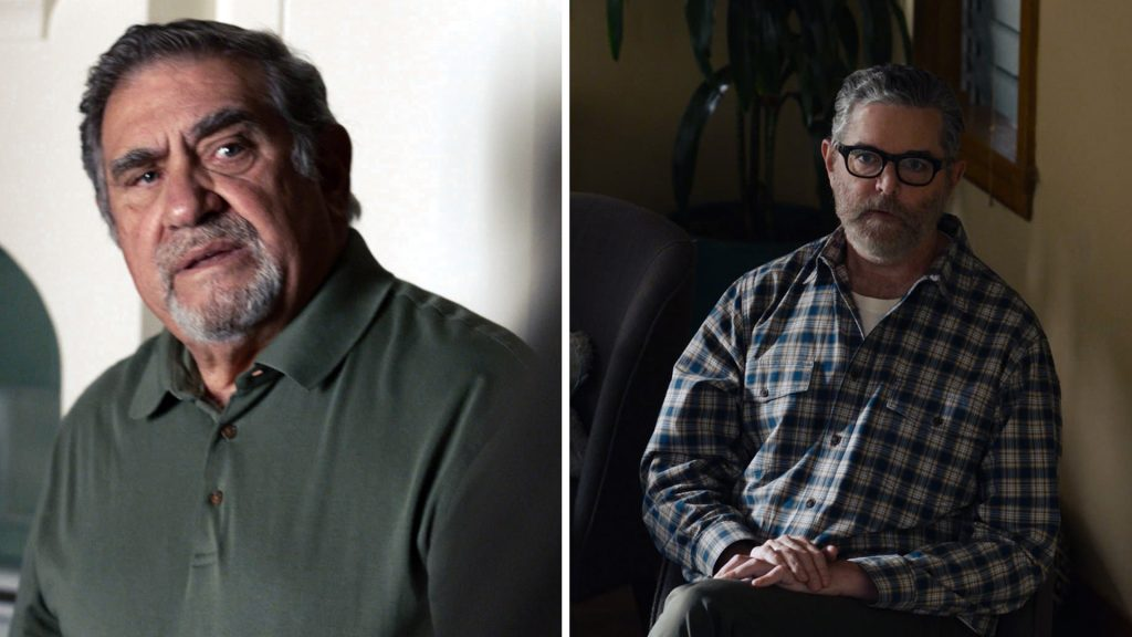 Screenshots of Dan Lauria as Toby's dad, Allan, and Timothy Omundson as Gregory in 'This Is Us' Season 5 Episode 14