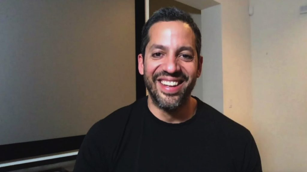 David Blaine on Zoom for The Late Late Show with James Corden