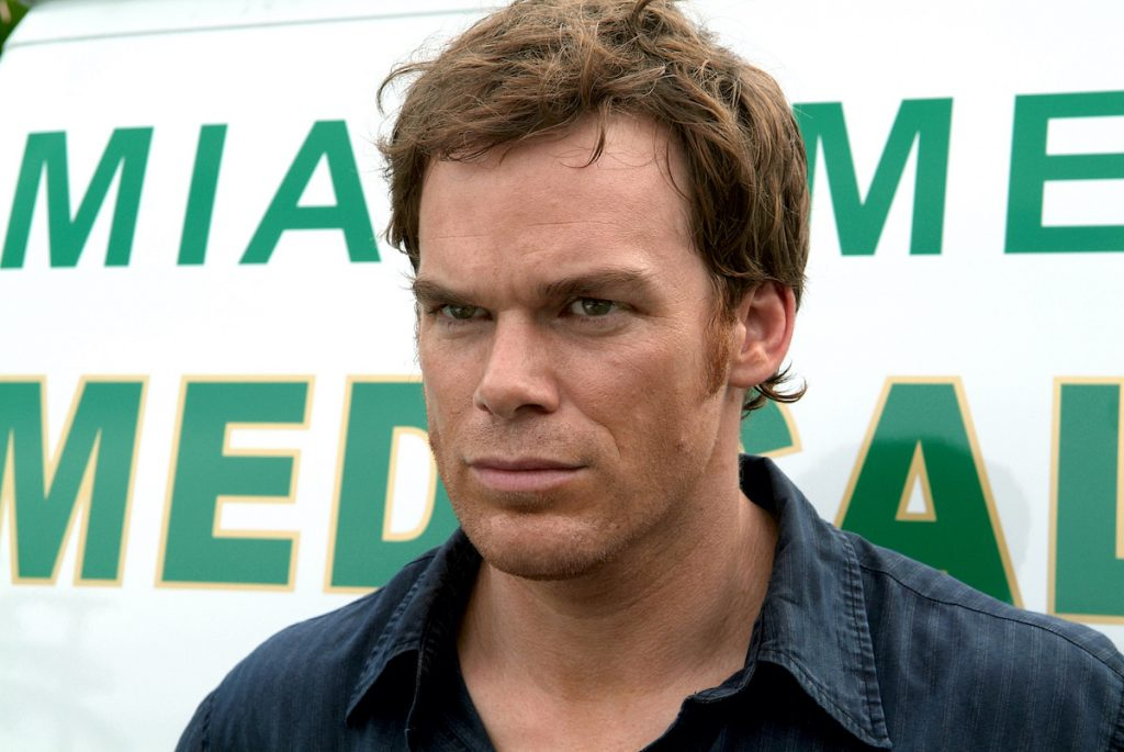 Michael C. Hall as Dexter Morgan staring out in front of him