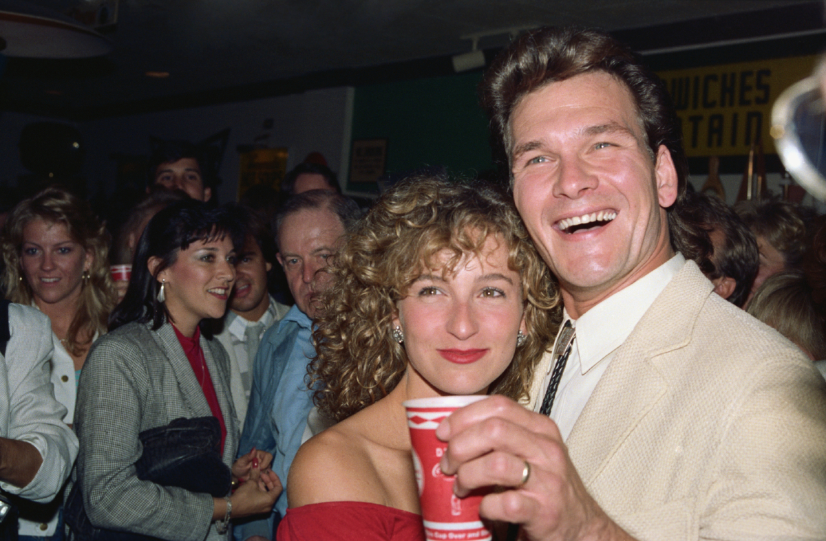 Patrick Swayze and Jennifer Grey celebrate the release of 'Dirty Dancing' on August 20, 1987