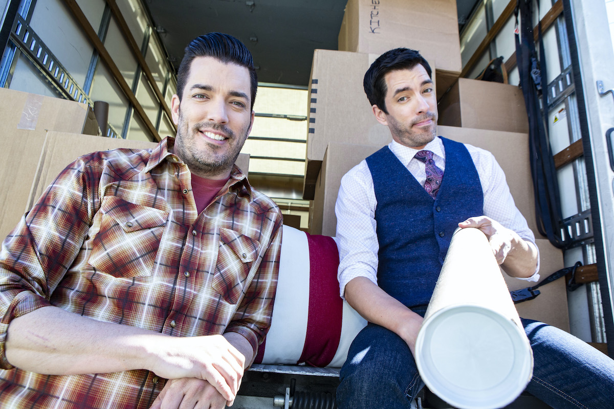 Drew and Jonathan Scott pose for a portrait session