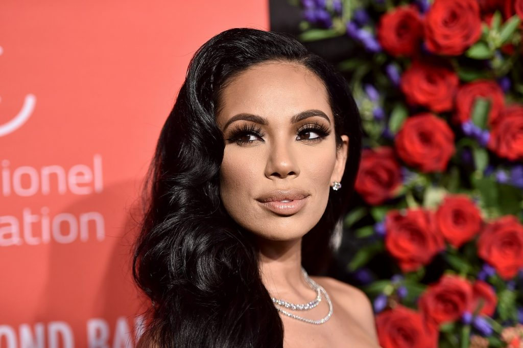 Erica Mena wears a nude lip and lashes to the Diamond Ball
