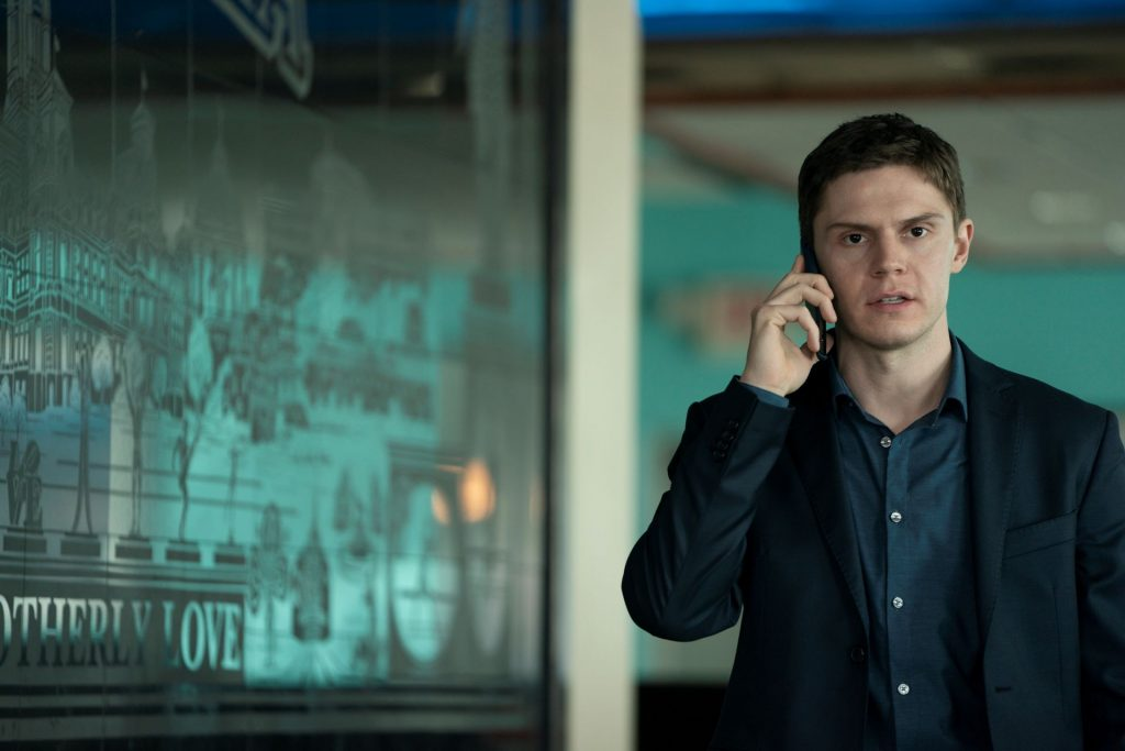 Evan Peters as Colin Zabel in 'Mare of Easttown'