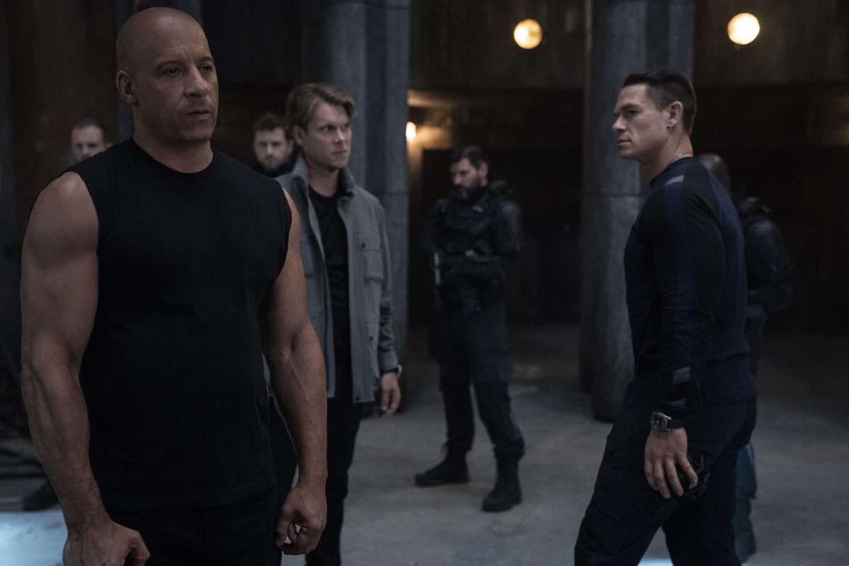 F9 stars Vin Diesel and John Cena confront each other