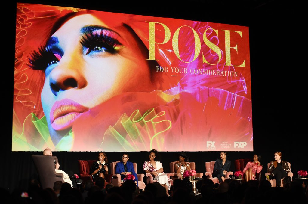 Ryan Murphy, Janet Mock, Steven Canals, Mj Rodriguez, Billy Porter, Indya Moore, Dominique Jackson, and Our Lady J of FX's 'Pose'